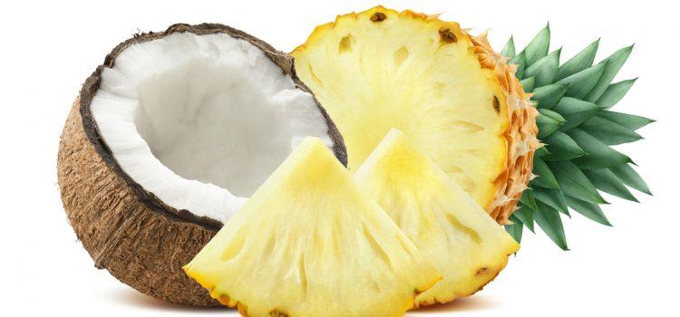 Huile de coco vierge, ananas, chocolat noir cru, fruits oléagineux, framboises, pastèque, betteraves rouges, fèves de haricot, baies de goji